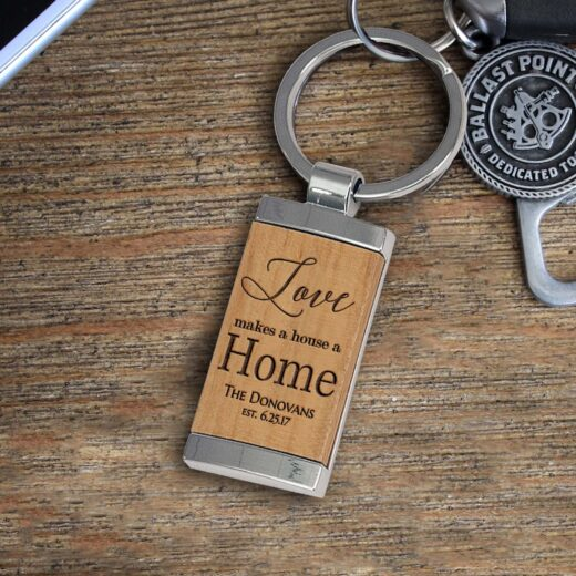 Personalized Wood Metal Key chain | Donovans