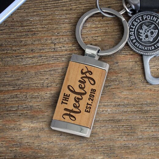 Personalized Wood Metal Key chain | Healey