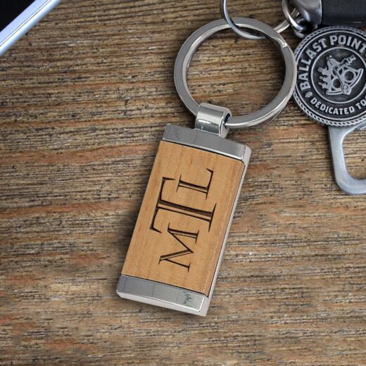 Personalized Wood Metal Key chain | MTL