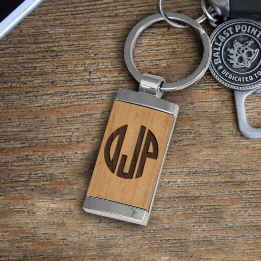 Personalized Wood Metal Key chain | OJP