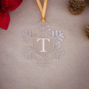 Snowflake Acrylic Christmas Ornaments | T