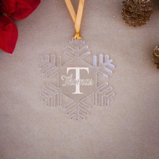 Snowflake Acrylic Christmas Ornaments | Thomas