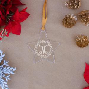 Star Acrylic Christmas Ornaments | M Wreath