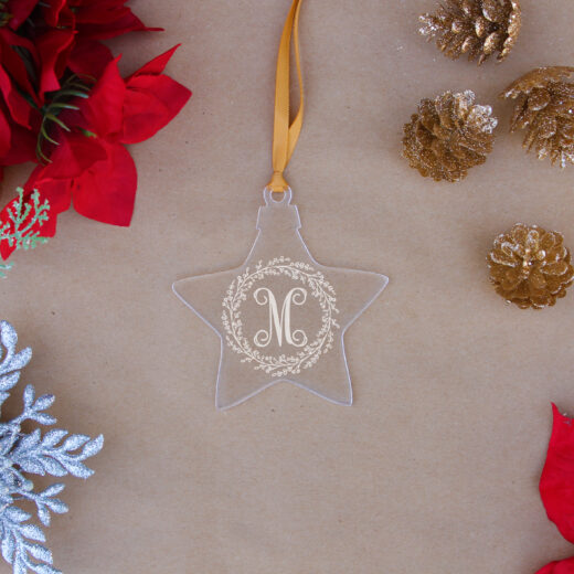 Star Acrylic Christmas Ornaments | M Wreath