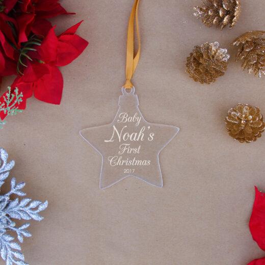 Star Acrylic Christmas Ornaments | Noah