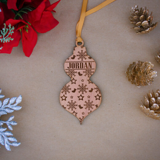 Personalized Wood Christmas Ornaments | Jordan