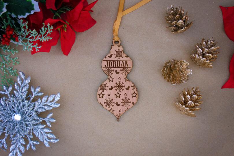 Personalized Wood Christmas Ornaments   Jordan