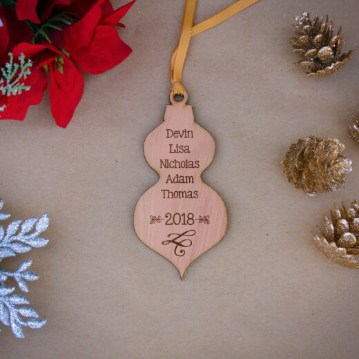 Personalized Wood Christmas Ornaments | Names