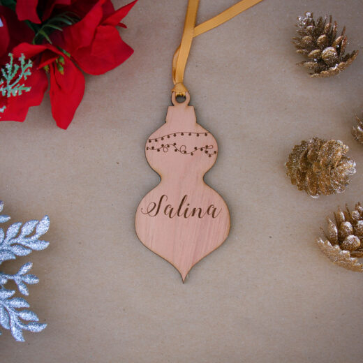 Personalized Wood Christmas Ornaments | Salina