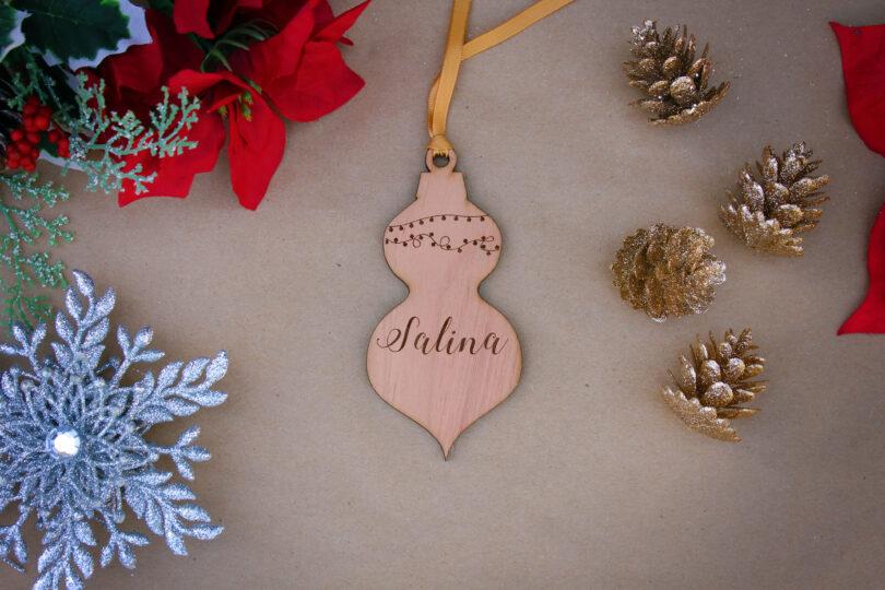 Personalized Wood Christmas Ornaments   Salina