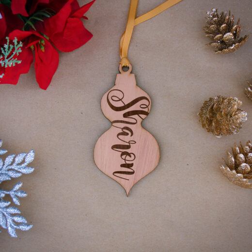 Personalized Wood Christmas Ornaments | Sharon
