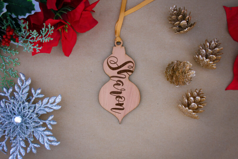 Personalized Wood Christmas Ornaments   Sharon