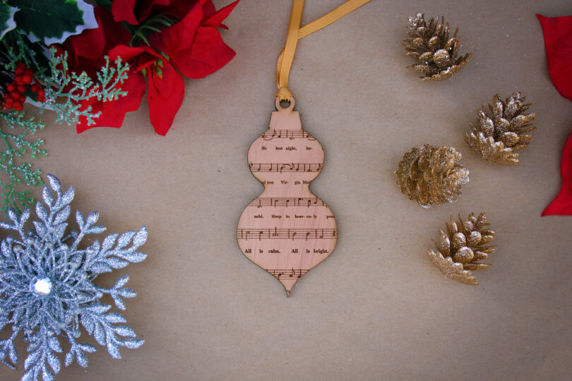 Personalized Wood Christmas Ornaments | Silent Night