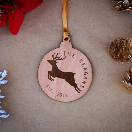 Round Wood Christmas Ornaments | Reagan
