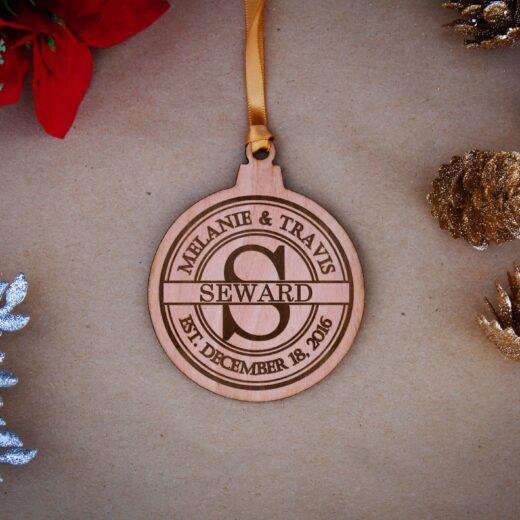 Round Wood Christmas Ornaments | Seward