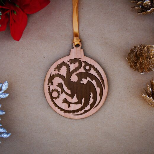 Round Wood Christmas Ornaments | Targareyn