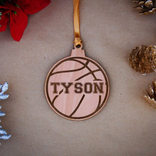 Round Wood Christmas Ornaments   Tyson