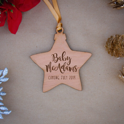 Star Wood Christmas Ornaments | Mc Adams
