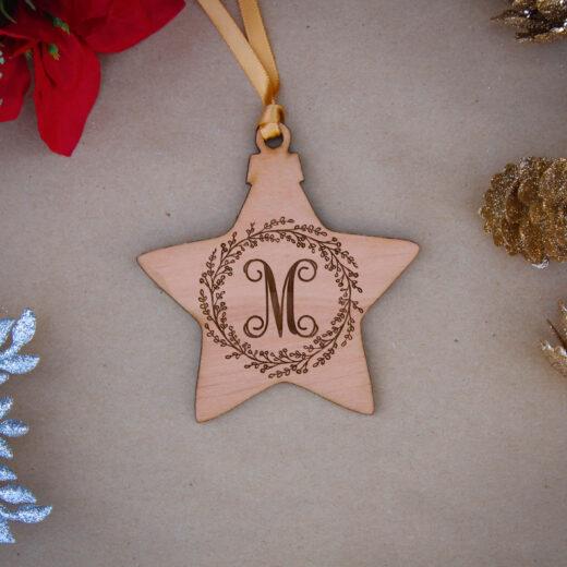Star Wood Christmas Ornaments | M Wreath