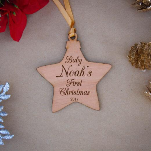 Star Wood Christmas Ornaments | Noah