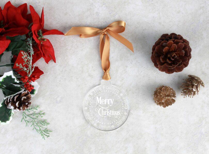 Round Acrylic Christmas Ornaments | Fallon
