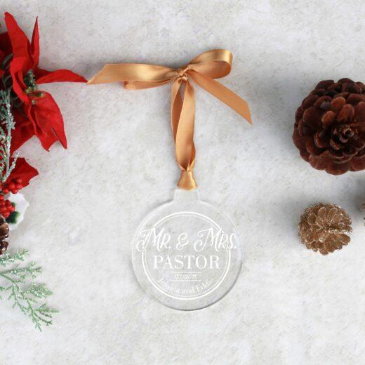 Round Acrylic Christmas Ornaments   Pastor
