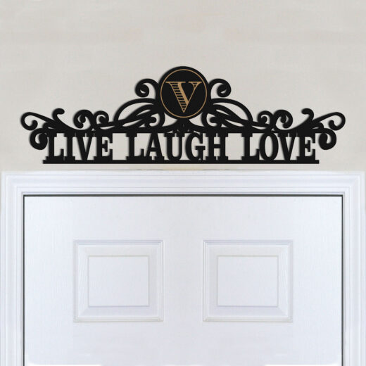Personalized Family Name Sign | Live Laugh Love