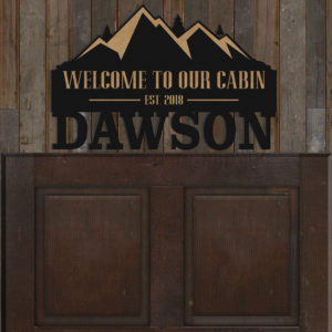 Personalized Family Name Sign | Dawson