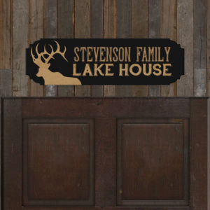 Personalized Family Name Sign | Lake House