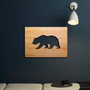 SIGN-WOOD-BEAR