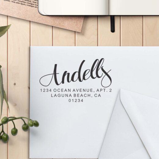 Personalized Return Address Stamp   Andells