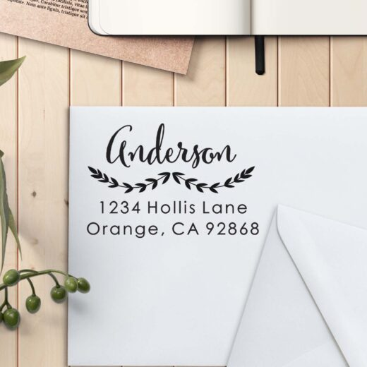 Personalized Return Address Stamp | Anderson Reef