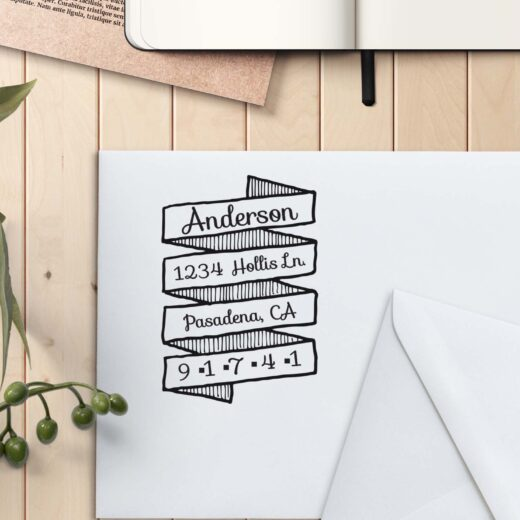 Personalized Return Address Stamp   Anderson Scroll