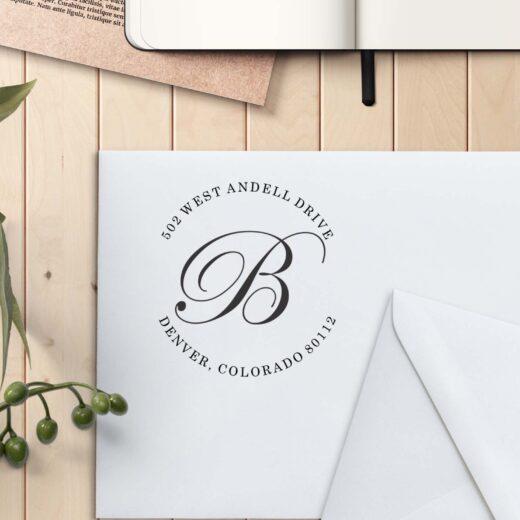 Personalized Return Address Stamp | B