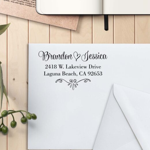Personalized Return Address Stamp   Brandon Jessica