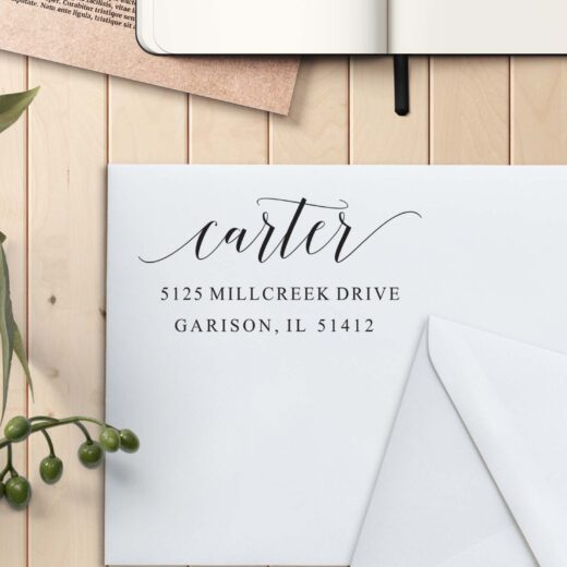Personalized Return Address Stamp   Carter