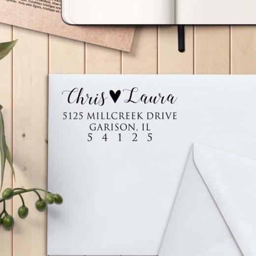 Personalized Return Address Stamp   Chris Laura