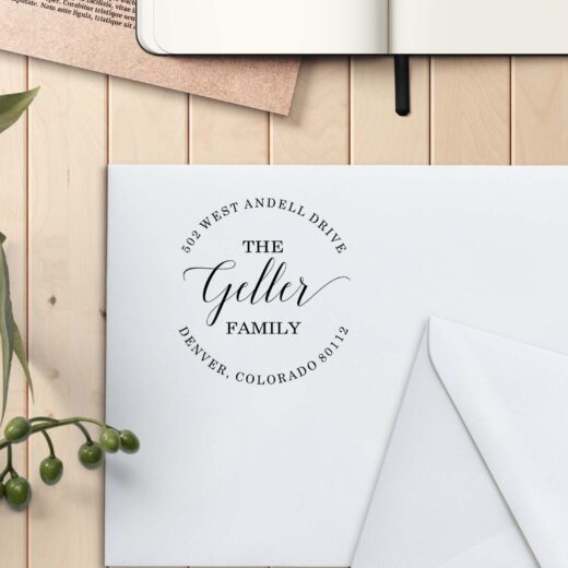 Personalized Return Address Stamp   Geller