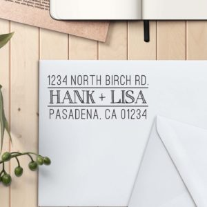 Personalized Return Address Stamp | Hank Lisa
