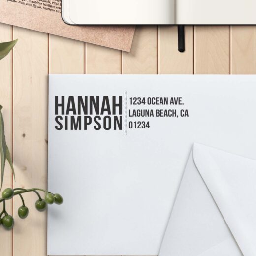 Personalized Return Address Stamp | Hannah Simpson