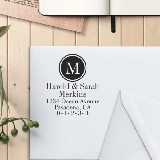 Personalized Return Address Stamp | Harold Sarah