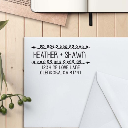 Personalized Return Address Stamp | Heather Shawn