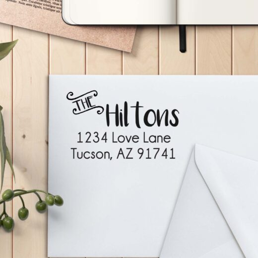 Personalized Return Address Stamp | Hiltons