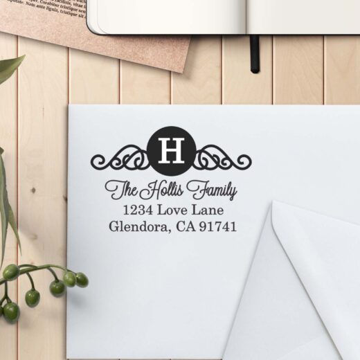 Personalized Return Address Stamp | Hollis Family