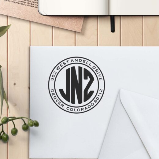 Personalized Return Address Stamp | JNZ