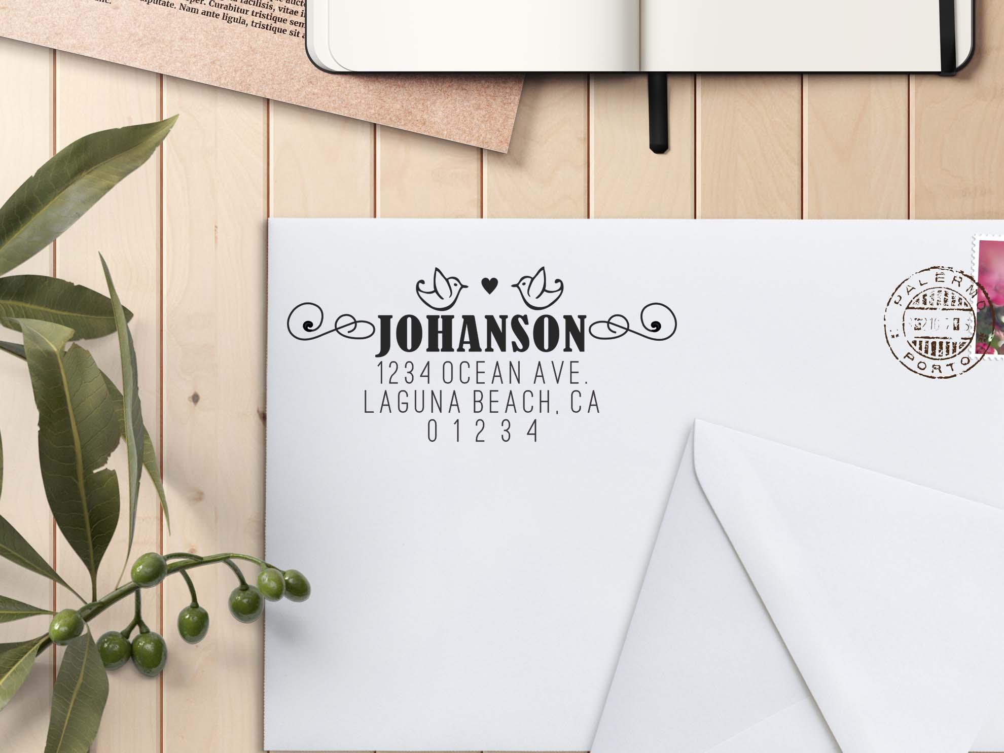 Personalized Return Address Stamp Johanson