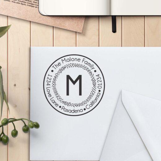 Personalized Return Address Stamp | Malone