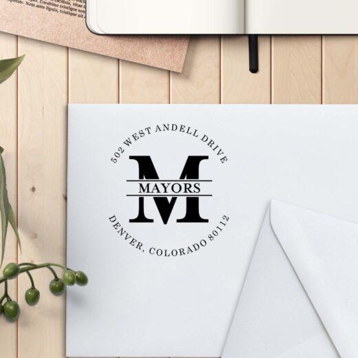 Personalized Return Address Stamp | Mayors