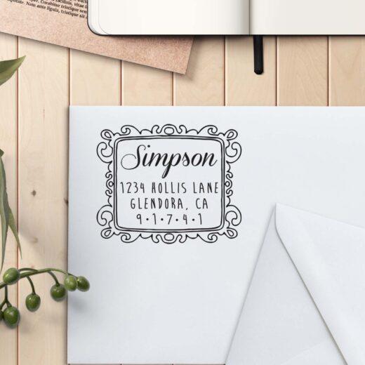 Personalized Return Address Stamp | Simpson