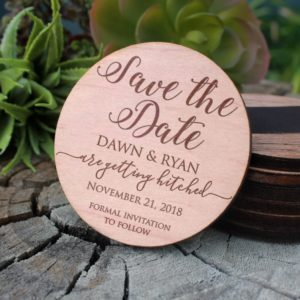 Wood Save The Date Magnet | Dawn Ryan